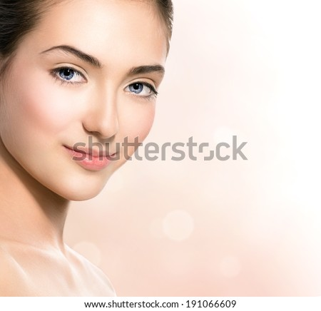 Portrait of beautiful teen model