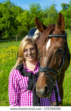 Teenager and her horse