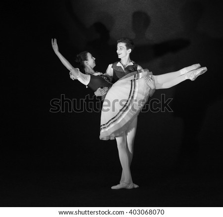 Teenager ballet Duo