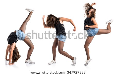 Teenager hip-hop dancer - stock photo