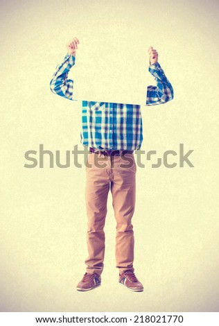teenager holding a placard - stock photo