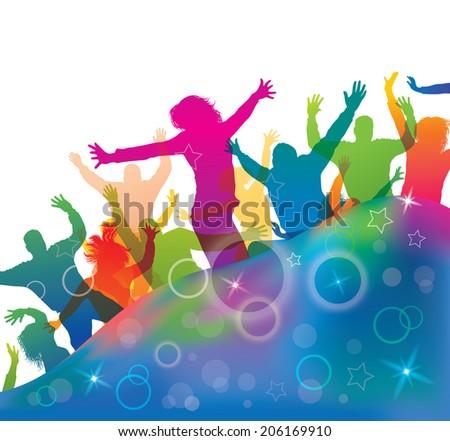 Teenager lifestyle. Young dancing people.  - stock photo