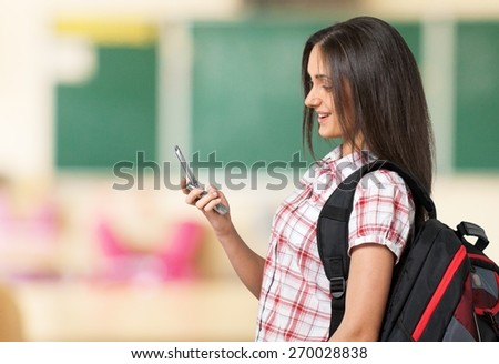 Teenager, Mobile Phone, Text Messaging. - stock photo
