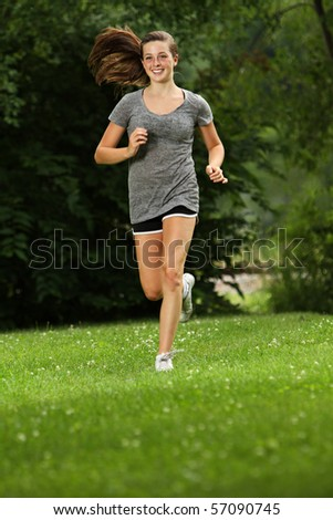 Teenager out for a jog
