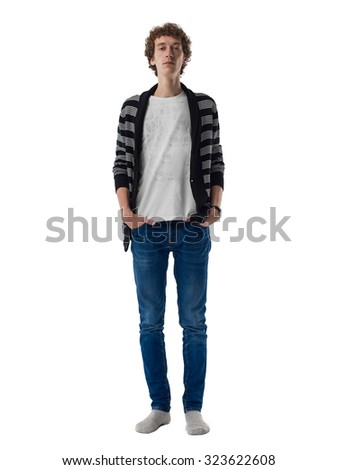Teenager Portrait isolated on white background