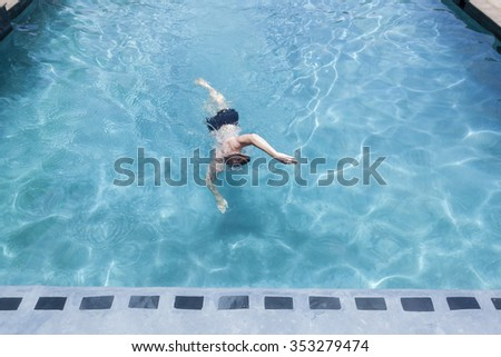 Woman Wearing Red Swimsuit Doing Fitness Stock Photo 461818714 Shutterstock