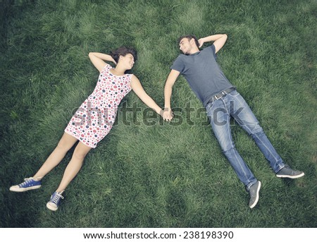 Teenagers outdoor - stock photo