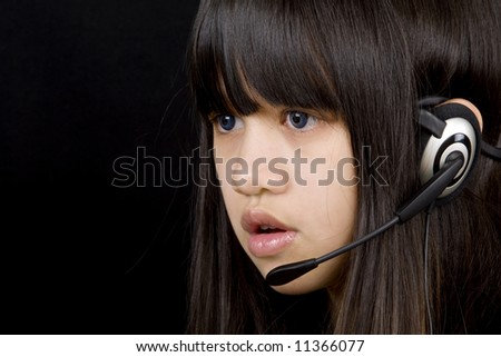 Teenagers with headset