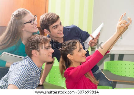 Teens studying - stock photo