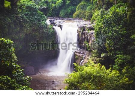 Tegenungan Waterfall near Ubud in Bali, Indonesia - stock photo