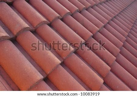 tegula roof tiles - stock photo