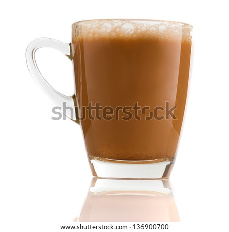 Teh Tarik , milk tea that is very popular in malaysia with morning background - stock photo