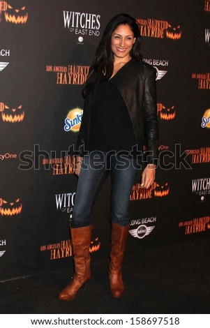 Tehmina Sunny at the 8th Annual LA Haunted Hayride Premiere Night, Griffith Park, Los Angeles, CA 10-10-13