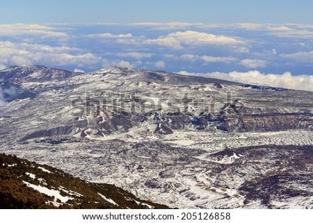 Teide Crater Landscape - stock photo