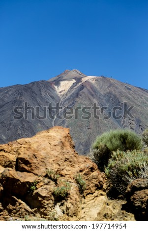 Teide National Park in Tenerife, Spain - stock photo