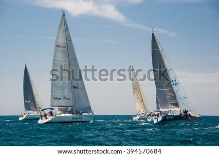 "Tel Aviv, Israel - May 15, 2010: ""Ofek Yachts Cup"" competition."