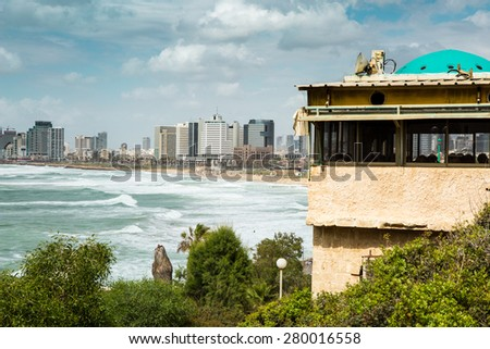 Tel Aviv, Israel - May 20, 2015: Panorama View from Jaffo.