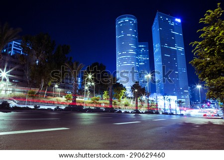 TEL AVIV - June 25: The Azrieli is a complex of skyscrapers June 25, 2015 in Tel Aviv, Israel. The circular building is the tallest in Tel Aviv and 2nd tallest in Israel.