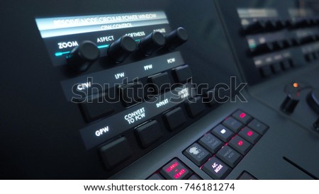 Telecine control machine for edit or adjust color on digital video movie or film in the post production stage.