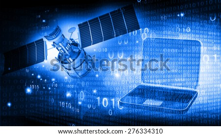 Telecommunication background  - stock photo