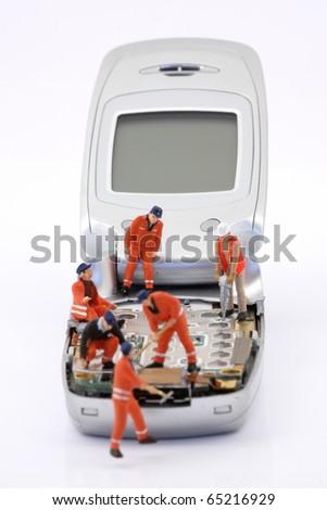 telecommunication business - stock photo