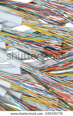 Telecommunication cables  - stock photo