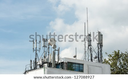 Telecommunication equipments on the roof top