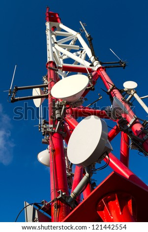 Telecommunication Tower - stock photo