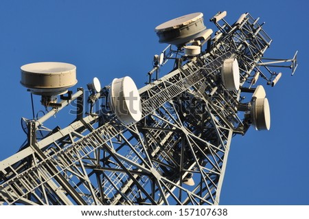 Telecommunication tower   - stock photo