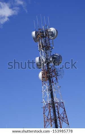 Telecommunication tower in outback Australia - stock photo
