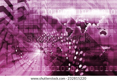 Telecommunications Technology Infrastructure as a Art Concept - stock photo