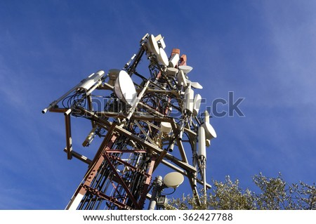 telecommunications tower on sky