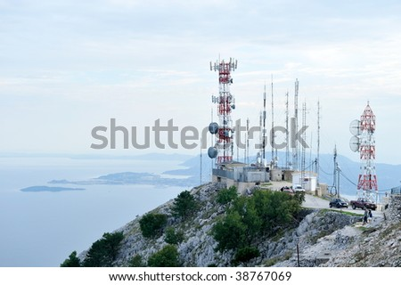 telecommunications towers - stock photo