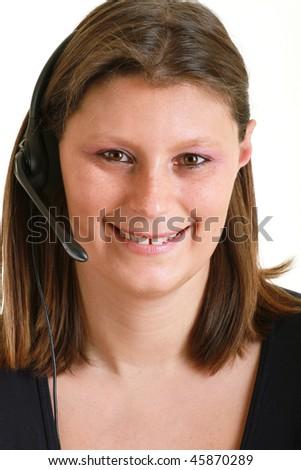 telemarketing - stock photo