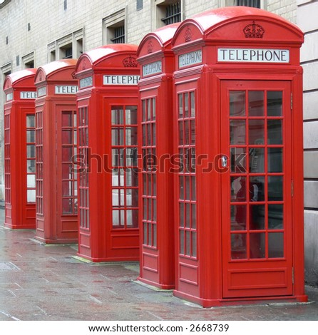 telephone-boxes in London