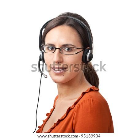 Telephone Call Center Operator Agent - stock photo