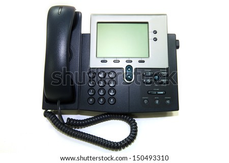 Telephone in office - stock photo