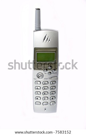 Telephone isolated radio on a white background