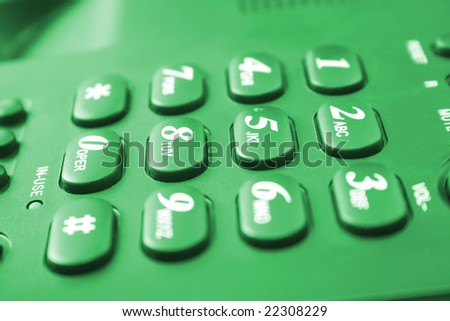 telephone keypad with buttons - stock photo