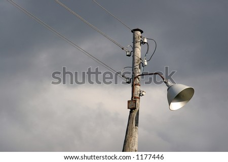 telephone network and lamppost in one