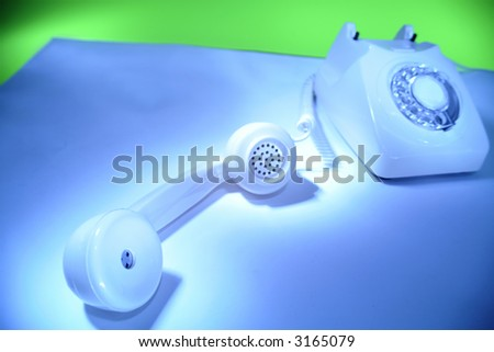 Telephone off the hook - stock photo