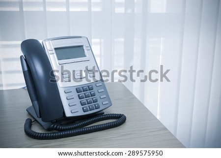 telephone on table work of room service business office - stock photo