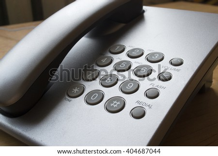 Telephone on the desk