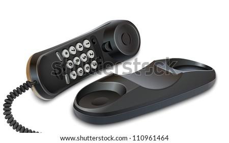 Telephone on white background - stock photo