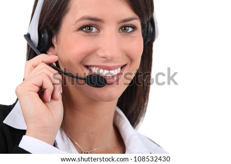 Telephone operator - stock photo