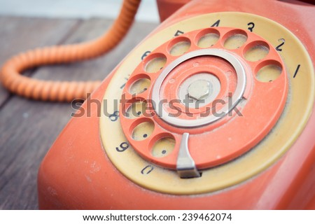 Telephone with retro filter effect - stock photo