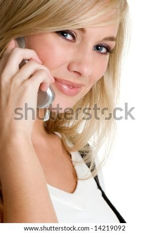 Telephone Woman - stock photo