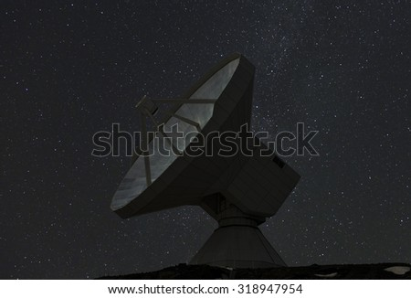 Telescope Astronomical Observatory of Sierra Nevada at night, Spain - stock photo