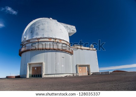 Telescopes on top of Mauna Kea Mountain, Big Island, Hawaii