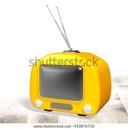 Television. - stock photo